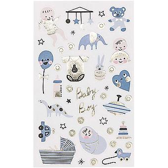 Baby dreng tema klistermærker x 100 Baby brusebad nye Baby håndværk