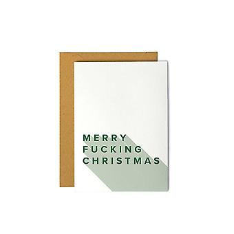 Merry Fucking Christmas Greeting Card