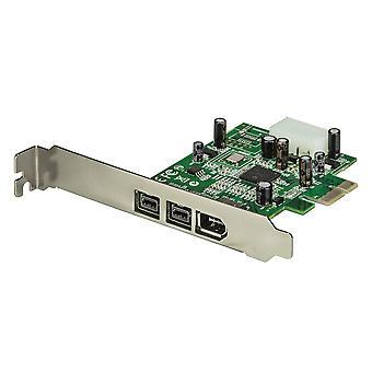 Startech.com 3 port 2b 1a 1394 pci express firewire card adapter - 1394 fw pcie firewire 800 / 400 c