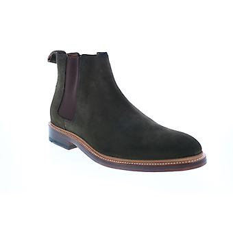 Bostonian Somerville Hi  Mens Green Suede Slip On Chelsea Boots
