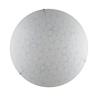 Fan Europe Luce_Ambiente_Design - Decorative Flush Ceiling Light, White Glass, E27