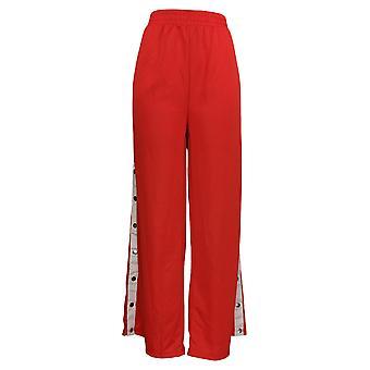 K. Jordan Women's pantalones laterales botón track pantalones rojos