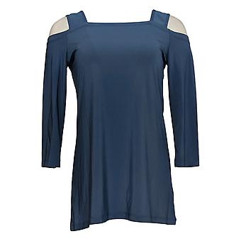 Attitudes by Renee Women's Top (XXS)Como Jersey 3/4 Sleeve Blue A301358