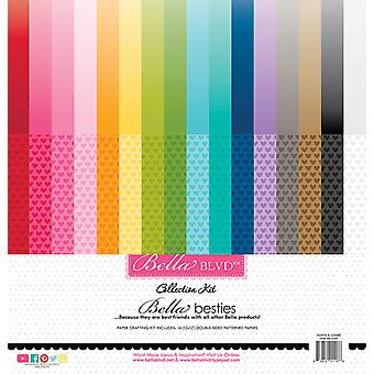 Bella BLVD Hearts & Ombré Rainbow 12x12 Inch Bella Besties Collection Kit