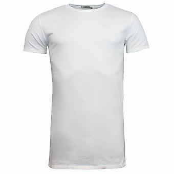 Onitsuka Tiger Plain White Short Sleeve Crew Neck Mens T-Shirt 0KT071 0001 RW69