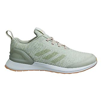 Adidas Rapidarun X Knit Kids Girls Low Lace Up Juniors Running Trainers D97079
