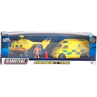 Teamsterz Emergency Team.  Helecopter Plus Vehicle
