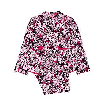 Minijammies Ariana 5676 Girl's Pink Floral Cotton Pyjama Set
