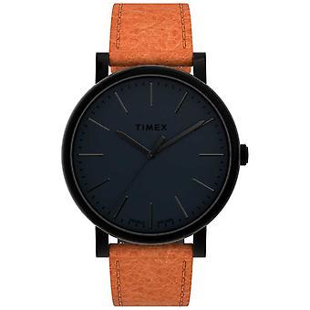 Timex-| Alkuperäiset 42mm | Musta valinta | Tan nahkahihna | TW2U05800 Kello