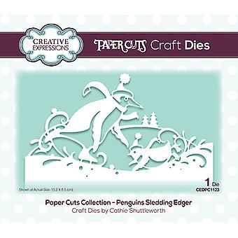 Creative Expressions Paper Cuts Collection - Christmas Cutting Dies - Pinguïns Sleeën Edger