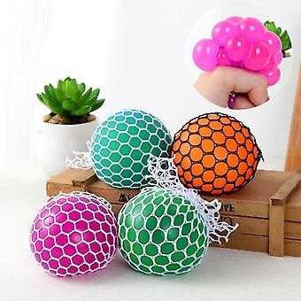 Gags & Praktisk Nyhet Anti Stress Ansikt Reliever Grape Ball
