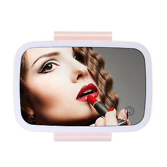 Car mirror with led lights makeup sun-shading cosmetic adjustable vanity clip