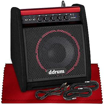 Ddrum dda50 bt 50 watt electronic percussion amp with bluetooth, woofer, tweeter, care kit, cables, and more in basic accessories bundle ps86599