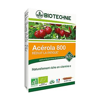 Organic Acerola 20 ampoules of 10ml