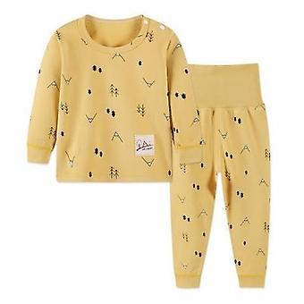 Vauva pyjama syksy 100% puuvilla pikkuvauva asettaa pyjama