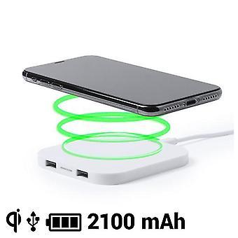 2-pack, Qi Wireless Charger 2100mAh USB