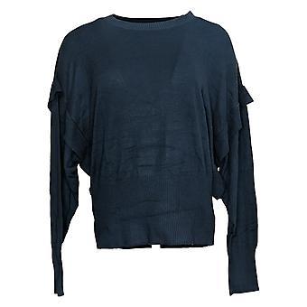 zuda Women's Sweater Ecovero Pullover Crew Neck Blue A384408