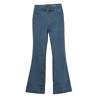 Laurie felt mujeres's jeans (XXS) sedoso denim flare pull-on azul A309671