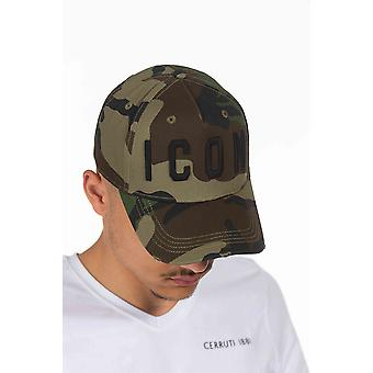 Dsquared2 قبعة خضراء للرجال