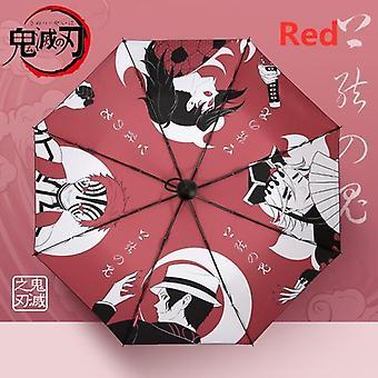 Demon Slayer Kimetsu No Yaiba Folding Umbrella(Red)