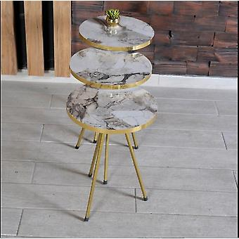 שולחן קפה עם רגל מתכת 5549