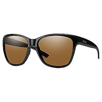 SMITH Ramona 7K D28 56, Damen Sonnenbrille, Schwarz (Shiny Black/Brown SF)