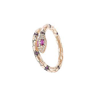 Salazar Schlange Ring Rubin rosa Rosegold