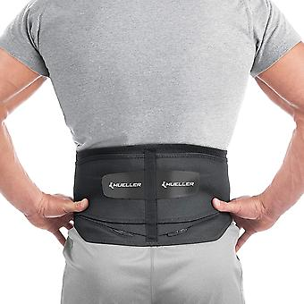Mueller Plus Size Adjustable Back Brace w/Lumbar Pad - Black