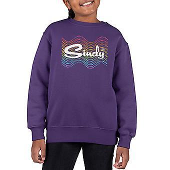 Sindy Rainbow Polka Dot Wave Kid's Sweatshirt