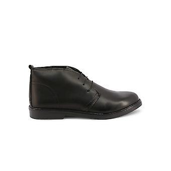 Duca di Morrone - Shoes - Lace-up shoes - 233-PELLE-NERO - Men - Schwartz - EU 43
