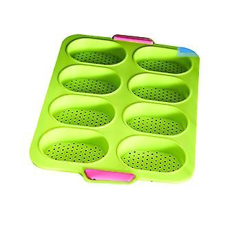 Green nonstick french bread mold perforated pan x5120