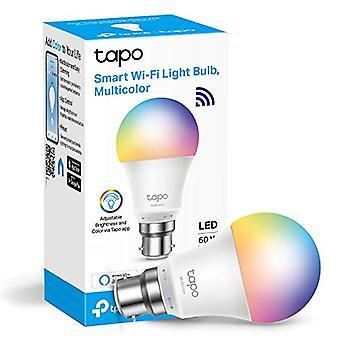 TP-Link Tapo Smart Bulb, WiFi Smart Switch, B22, 8.7W, No Hub Required, Werkt met Amazon Alexa (Echo en Echo Dot) en Google Home, Kleurverversbaar (Tapo L530B) [Energieklasse A+]