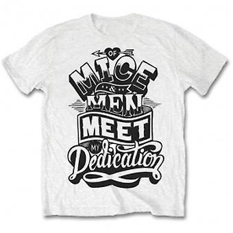Of Mice & Men Dedications Mens White T Shirt: Medium