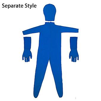 Blue/green screen bodysuit stretch disappearing man body suit for photo video shooting photography background