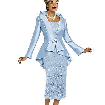 Női ruha, elegáns tea hosszúságú esküvői ruha