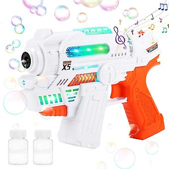 Bubble Gun Bubble Blower Toy Bubble Blaster With Light And Sound 2 Bottles Bubble Solution
