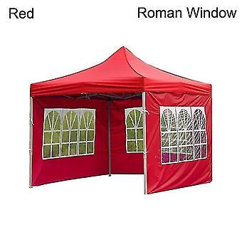 Nová vonkajšia párty nepremokavé Oxford látkové stany Altánok príslušenstvo dažďovo odolný kryt koruny (červená)