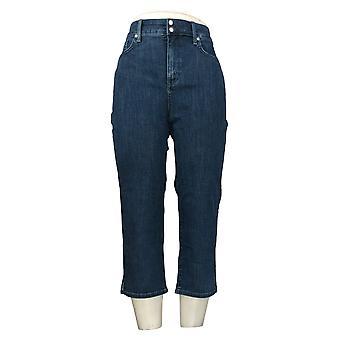 NYDJ Jeans Cool Embrasser Maigre Crop Side Slit Blue A377692