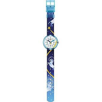 Flik Flak Fpnp098 Magical Astronaut Unicorn Blue Textile Watch