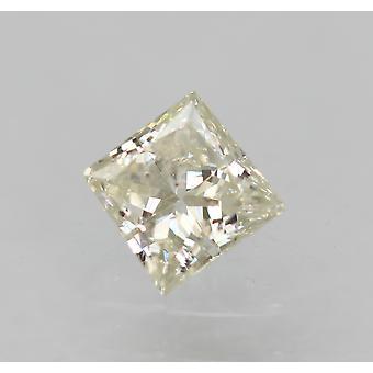 معتمد 0.21 قيراط G اللون VS2 الأميرة الماس فضفاضة الطبيعية 3.38x3.33mm