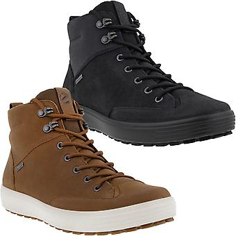 ECCO Mens Soft 7 Tred GORE-TEX Waterproof Leather Lace Up Mid Rise Ankle Boots