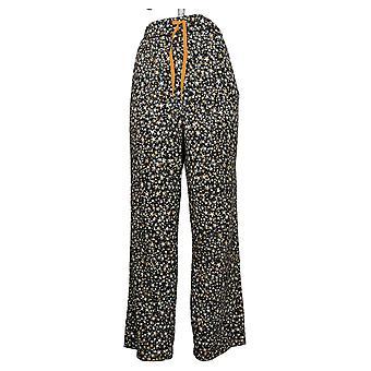Weiche & gemütliche Damen Ultra Strick Pyjama Hose Schwarz 664527
