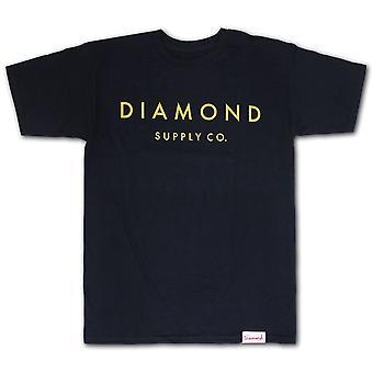 Piedra de diamante fuente Co corte camiseta Navy