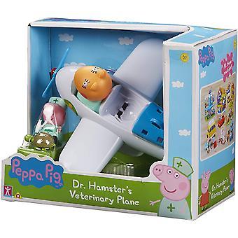 Peppa Gris Dr. Hamster Veterinær Plane