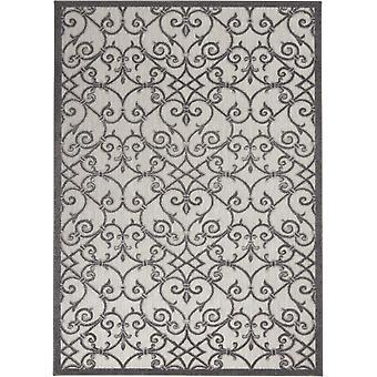 4 'x 6' Grau und Charcoal Indoor Outdoor Area Teppich
