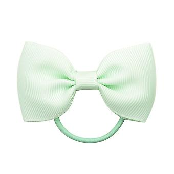 2pcs/lot Small Ribbon Bows With Elastic Hair Bands For Kids Girls Ponytail Candy Color Bowknot Hair Ropes Ties