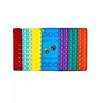 6st Push Pop Bubble Rainbow Silikon Fidget Toy Stress Reliever Set