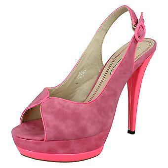 Damer plats på höga högklackade Peep Toe spände bältet sandaler