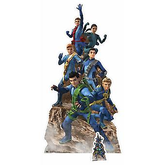Thunderbirds Are Go Group Pose Cardboard Cutout /  Standee / Stand up