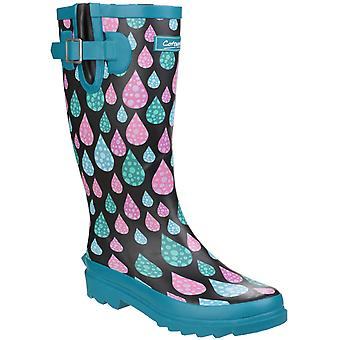 Cotswold Womens Burghley Waterproof Pull On Wellington Boot Raindrop